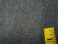 "Wool Worsted Suiting Fabric Woven Gray Black 63""W x 1 yard"