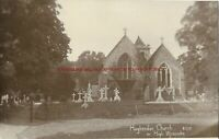 Buckinghamshire Hughenden Church nr High Wycombe RP Vintage Postcard 12.12