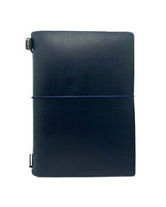 Blue Leather Journal Organizer, Midori Traveler's Notebook, Ace Hotel Exclusive