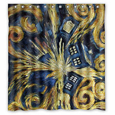 Doctor Who Custom Fabric Durable Waterproof  Shower Curtain 66'' x 72''