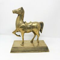 Vintage Brass Horse On The Stand Esquerian Figurine