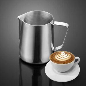 Edelstahl Milchkanne Milchkännchen Kaffeekanne Milchbehälter Milchschaumkännchen