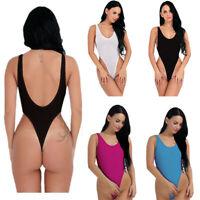 Women Sheer Lingerie High Cut Leotard Tops Bodysuit Thong Swimwear Sex One size