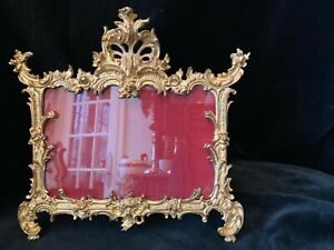 Regal Gilt Dore Iron Rococo Style Antique Photo Picture Frame