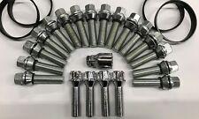 Wobble Roues Alliage Boulon de roue + serrures + anneaux M14X1.5 COUPE FIAT DUCATO 48 mm