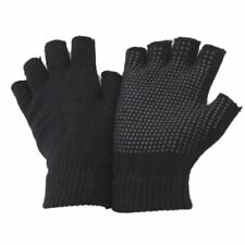 Unisex Fingerless Winter Hand Wrist Gripper Black Stretch Gloves For Men Women