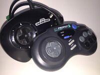 Sega Genesis Pro Pad 2 SG Control Controller Game Video Black Game 6-button OEM