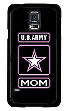 US Army Mom Black USA Military Case Cover for Samsung Galaxy S5 S4 S3 Note 4 3 2