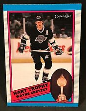 1989-90 OPC O-PEE-CHEE HOCKEY HART TROPHY WAYNE GRETZKY CARD #320 KINGS MINT