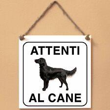 Flat Coated Retriever 1 Attenti al cane Targa cane cartello ceramic tiles