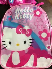 HELLO KITTY PINK MINI BACKPACK WITH HIDE AWAY HOOD FEATURE NWT