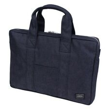 New PORTER  SMOKY BRIEF CASE (S) 592-07506 Navy Blue Tracking From Japan