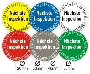 Prüfplaketten Nächste Inspektion Prüfsiegel Wartung Termin UV- Kratz-Wasserfest