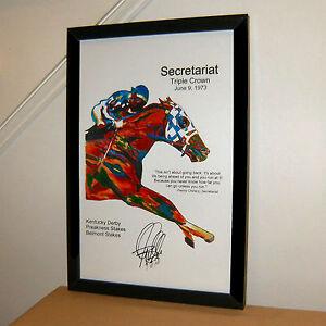 Secretariat Triple Crown Belmont Stakes Horse Racing Print Poster Wall Art 11x17