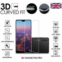 For Huawei P20 Pro Full 3D Clear Tempered Glass 9H Screen Protector Cover
