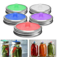 Fermentation Lids Waterless Airlock Silicone Fits for Wide Mouth Mason Jar, 5PCS