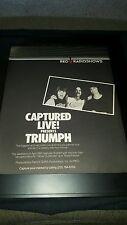 Triumph RKO Radio Show Rare Original Concert Promo Poster Ad Framed!