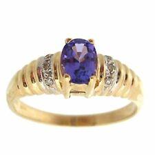 14 Carat Yellow Gold Oval Fine Diamond Rings