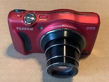 Fujifilm FinePix F770EXR digital camera 16MP CMOS GPS 20x Zoom 25mm wide RED