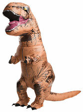 HALLOWEEN PROP INFLATABLE ADULT T REX DINOSAUR  COSTUME MASK **WITH SOUND**