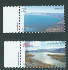 Armenia 2001 Europa issue, 2v MNH, Lakes / Landscapes: Lake Sevan & Spandarian