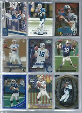 New listing 9 CARD LOT OF PEYTON MANNING W/INSERT NO DUPES BRONCOS-COLTS-VOLS FBA7