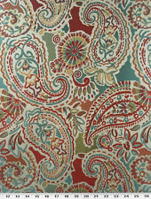 Drapery Upholstery Fabric Medium Weight Textured Paisley Jacquard - Fiesta