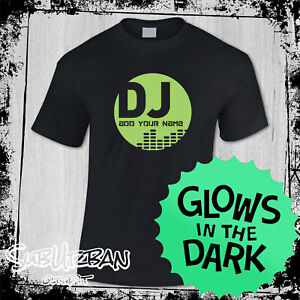Men's Personalised DJ Logo ADD YOUR NAME Music T Shirt Ibiza House Party #3