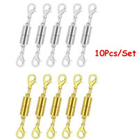 5Pcs 10Pcs Strong Magnetic Clasp Necklace Converter Extender 2 lobster claws