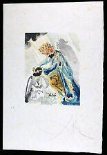 SALVADOR DALI woodcut OVIDE L'ART D'AIMER 1979 HAND SIGNED  JAPAN PAPER