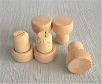 Wooden T-Top Stopper Cork 19mm dia, Bottle Bung Wine Home Brewing PACK OF 10