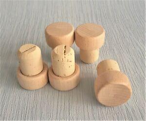 Wooden T-Top Stopper Cork 19mm diameter Bottle Bung Wine Home Brewing PACK OF 10