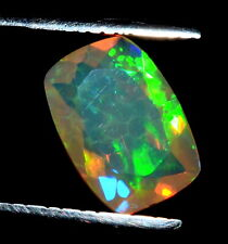 Natural Ethiopian Opal Cushion AAA Fire Opal Faceted Loose Gemstone