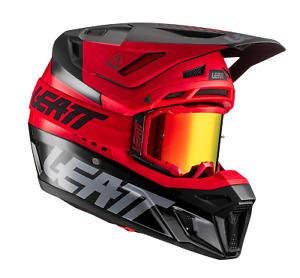 Leatt Helmet Helmet Kit Moto 8.5 V21 with Goggles - Red - Motocross Off-Road