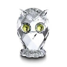 Swarovski Owl Miniature Figurine Austrian Crystal- #10014- New in Box!
