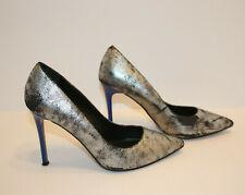 Aldo Looma 🌸 Women Pointed Toe Silver/black metalic Leather Heels,Pumps SZ:8.5