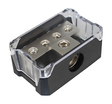Power Ground Distribution Block 1x0Ga In 4x4ga Out Amp Installation Skpd-36N
