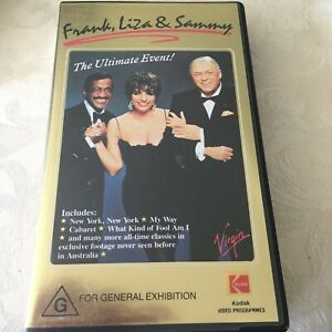 THE ULTIMATE EVENT! - FRANK/LIZA/SAMMY - CONCERT - RARE PAL VHS Video  LIKE NEW