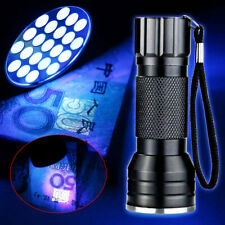 395nm 21LED UV Ultra Violet Light Torch Gel Nail Flashlight For Cash Detector