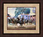 Mort Kunstler Civil War Print Morgan's Ohio Raid Custom Gallery Framed