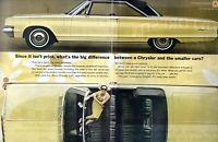 1965 2 PAGE ORIGINAL VINTAGE CHRYSLER CAR MAGAZINE AD