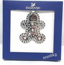 Swarovski 5004499 Gingerbread Man Ornament, Christmas Stars/Chatons Crystal NEW