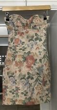 Topshop Floral Strapless Dress UK8 EXCELLENT CONDITION