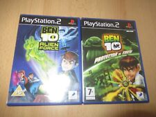 BEN 10 PROTECTOR OF EARTH + ALIEN FORCE  PS2 PLAYSTATION 2  UK PAL  2 GAMES