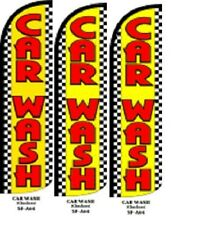 Car Wash (Checker) King Size Windless 38 x 138 in Polyester Swooper Flag pk of 3