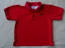 Little boys Kid Zone red polo shirt with embroidered SPIDER size 5