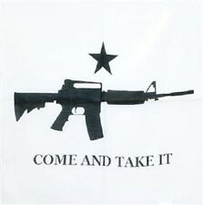 "22""x22"" Texas M4 Ar15 Machine GUN Come and Take it RIFLE Bandanna"
