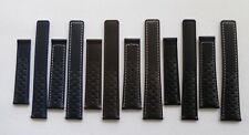 PERFORATED DEPLOYMENT STRAP BLACK/BROWN/BLUE 18-22MM FOR BREITLING/TAG HEUER/ETC