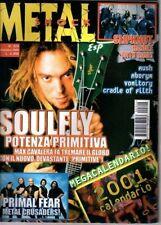 METAL SHOCK N° 324/2000 SOULFLY PRIMAL FEAR SLIPKNOT ABORYM VOMITORY RUSH