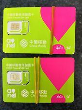 New! +852_ activated Hong Kong SIM card - CHINA MOBILE ROAMING ON, TAOBAO